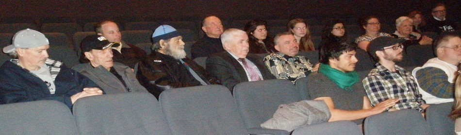 Wrestlers and wrestling/MMA fans at the 'Fight Time' Screening