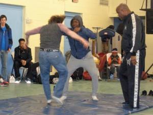 Gary teaching kids MMA